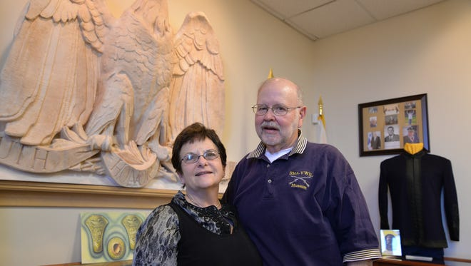 Arlene and Brocky Nicely at the Staunton Military Academy Museum.