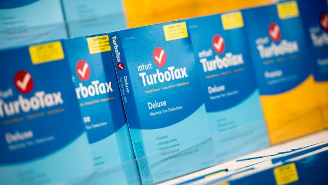 TurboTax software is on display at a retailer in Foster City, Calif. The filing deadline for 2015 taxes is April 18.