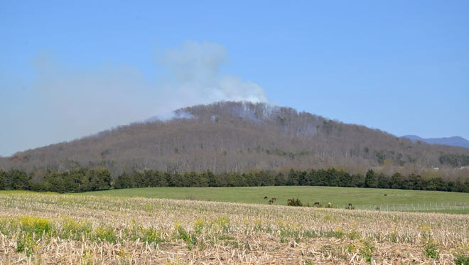 A fire out near New Hope off Round Hill School Road.