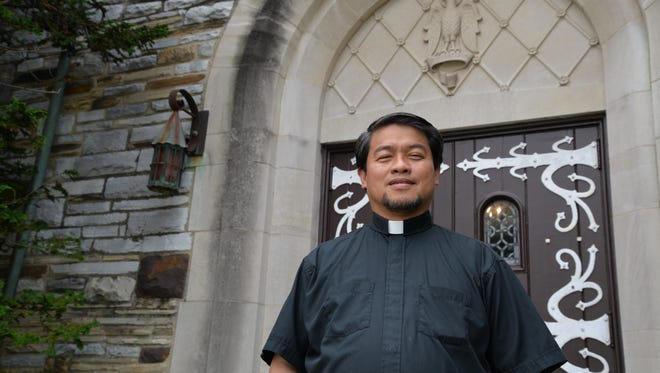 Father Rolo Castillo of Saint John the Evangelist in Waynesboro. The church, currently located downtown Waynesboro on Maple Avenue, purchased a new spot of land off Lew Dewitt Boulevard near the Pratts Run subdivision.