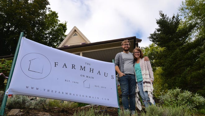 Aaron and Bethany Mallory are fixing up the old Stone Soup Books and Cafe in Waynesboro to make way for their new coffee shop and cafe, The Farmhaus on Main, set to open in November.