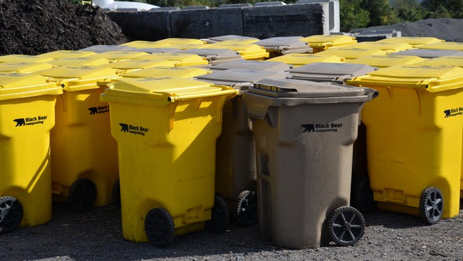 Bins at Black Bear Composting in Crimora. The facility will close at the end of 2016, but owners hope to continue composting efforts in the future.