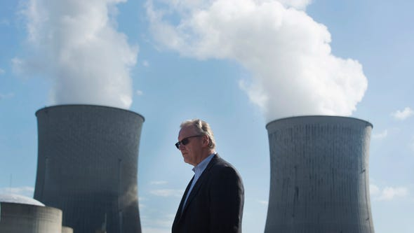 TVA President and CEO Bill Johnson pauses in front