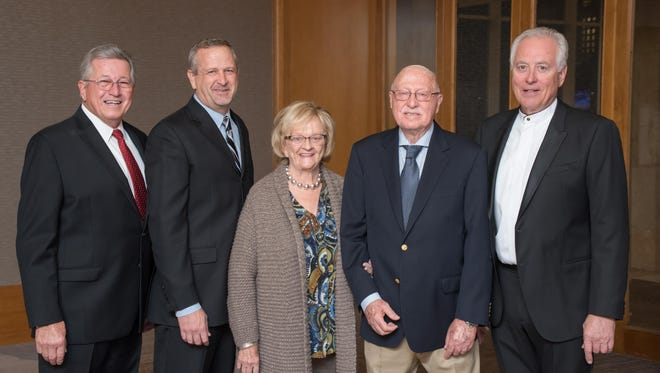 (left to right) Event Co-chair and Olive Crest Trustee Roger Johnson, Donald Verleur, CEO of Olive Crest, Olive Crest Founder Lois Verleur & Dr. Donald Verleur, and Event Co-chair and Olive Crest Trustee Doug Lang.