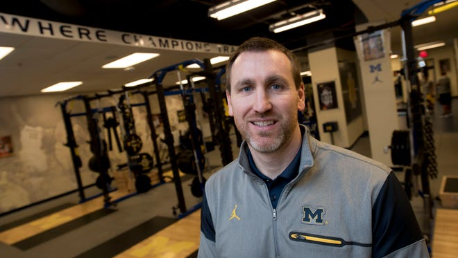 Michigan head strength and conditioning coach Jon Sanderson