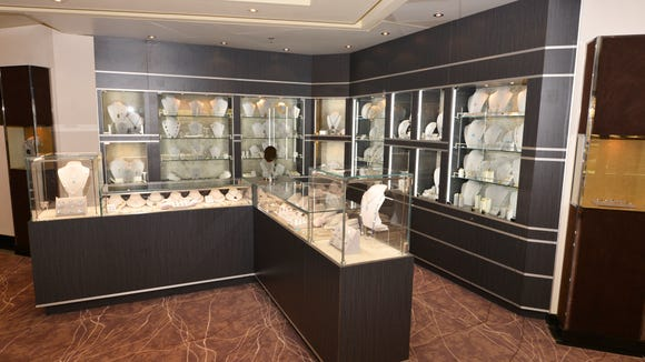 Jewelry is among the offerings in the Seven Seas Voyager's