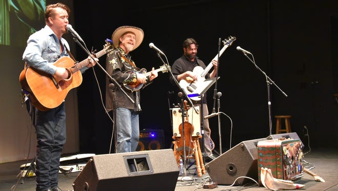 Joe Craven and The Sometimers rock the stage at the Jeanne Dini Center in April 2017.