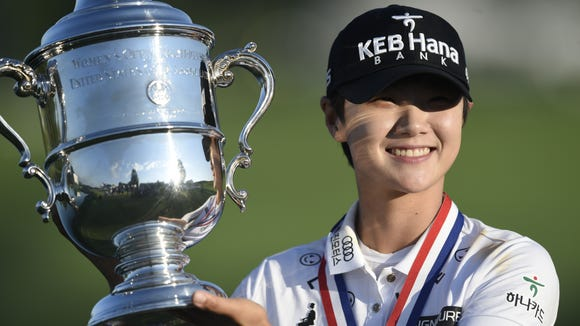 Sung Hyung Park of South Korea is the winner of the 72nd U.S. Women's Open at Trump National Golf Club in Bedminster, NJ on Sunday, July 16, 2017.