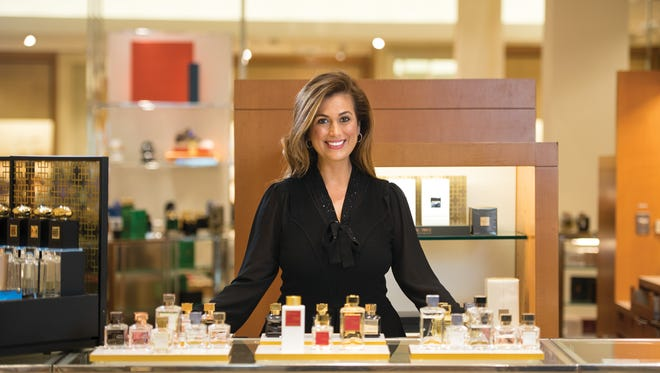 Lisa Ferguson at the perfume counter in Neiman Marcus in Paramus.