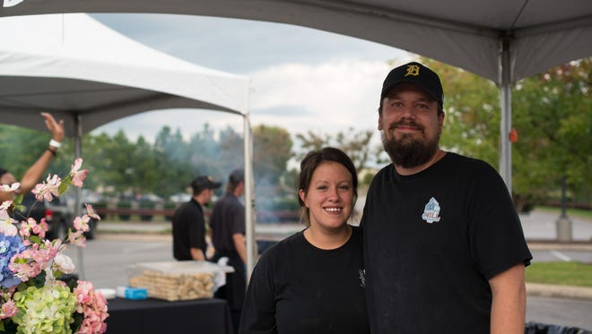 Eric and Nicole Ford of Goodness Gracious at the Mill at Murfreesboro Magazine's inaugural Battle of the Burger, held Thursday, Sept. 14 at The Avenue Murfreesboro.