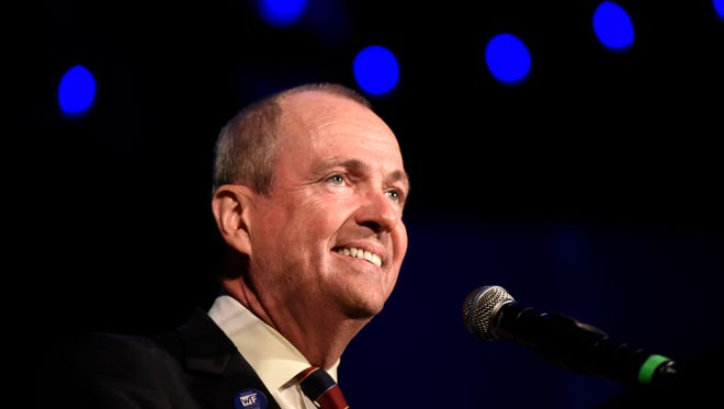 Democrat Phil Murphy is the governor-elect of New Jersey. Murphy gives his victory speech at the Asbury Park Convention Hall on Nov. 7, 2017.