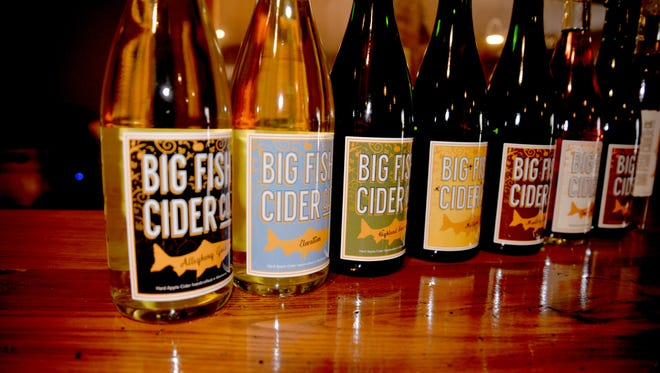 The tasting room of Big Fish Cider Co. in Monterey. The hard cider company, which has been operating for nearly two years, is the brainchild of Monterey native Kirk Billingsley.