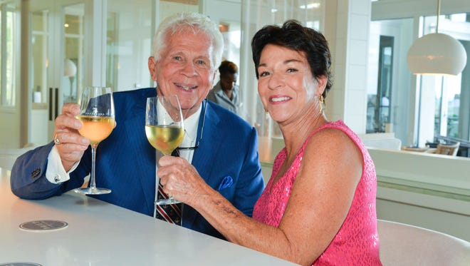 Frank M. Byers Jr. and Karen Rodgers at the Hutchinson Shores Resort & Spa, the new venue for this year's A Literary Affair.
