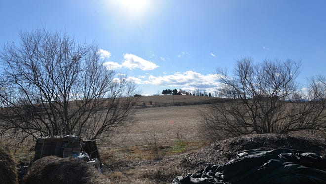 The field next to Ryan Blosser's home outside of Churchville, which could be used as a storage yard for Dominion's proposed Atlantic Coast Pipeline.