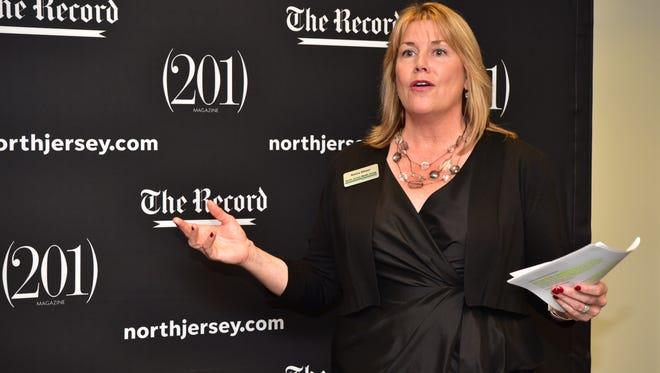 Nancy Meyer, president of North Jersey Media Group, speaks about the Gannett Foundation Grant in Woodland Park. Photo: Marko Georgiev/NorthJersey.com