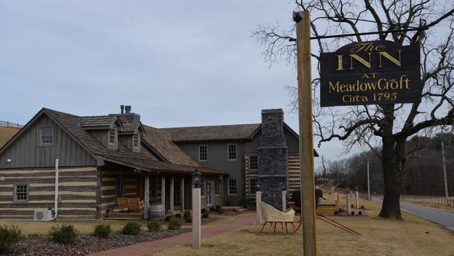 The Inn at Meadowcroft in Swoope was recently opened after old log cabins (circa the 1700 and 1800s) were restored, rebuilt and made into an inn.