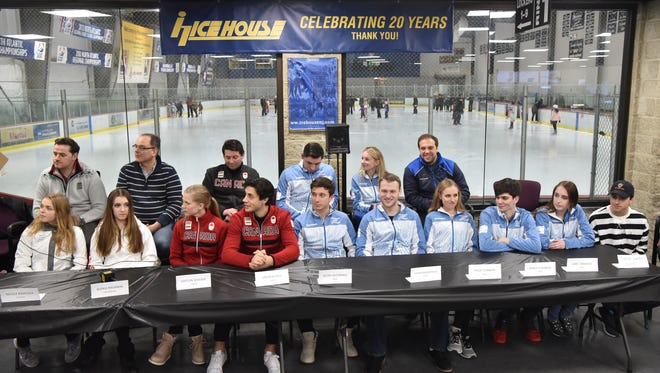 The Ice House's Olympic figure skaters gathered for a press conference on Wednesday, Jan. 24.