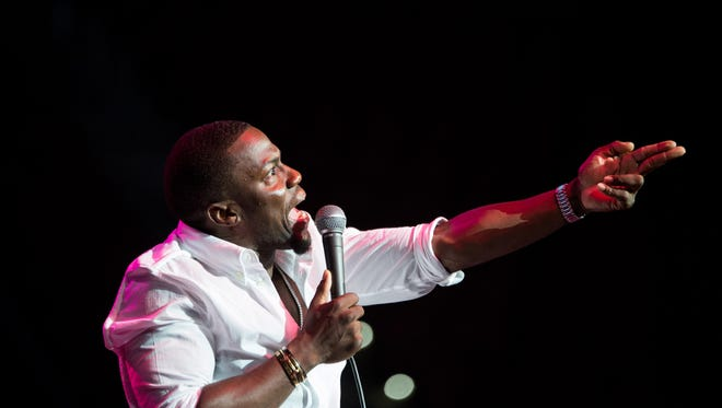 Kevin Hart makes a point during his sold-out show at The Tucker Civic Center in 2014.