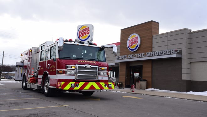 A fire was reported at the Marysville Burger King Friday afternoon.