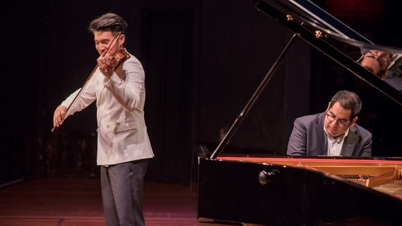 Violinist Ray Chen and pianist Julio Elizalde have