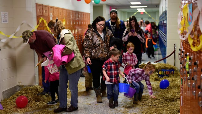 "The holiday spirit arrived a little early when the Oak Harbor High School Student Council held its ""Easter Eggstravaganza"" on Thursday night."