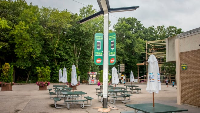 The Milwaukee County Zoo was awarded Governor's Tourism Stewardship Award for installation of a solar-powered charging station for guests to re-charge cellphones and creation of an urban wood initiative to further its mission