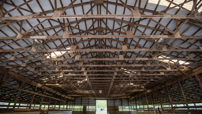 The roof of the show arena at the 4-H Fair Grounds at Goodells Park will be replaced under a $23,550 grant received by the Fair Board.