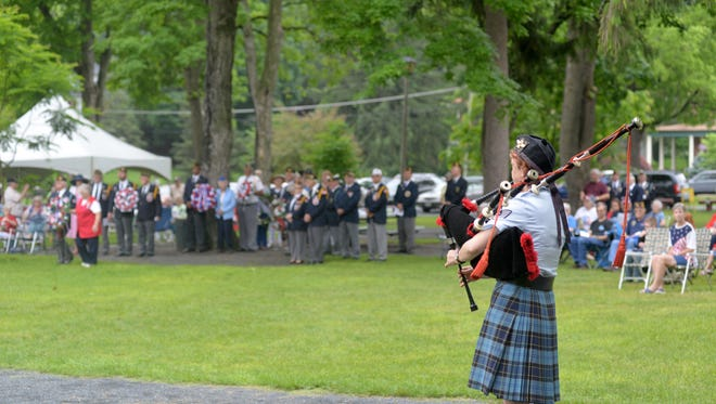 Memorial Day Service at Gypsy Hill Park on Monday, May 28, 2018.
