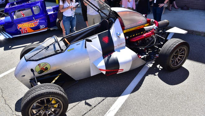 """Luis Rodriguez wins The Hot Wheels Legends Tour with his custom made build hot rod he calls """"2 Jet Z"""" in Garfield, NJ."""