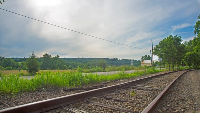 The York County Heritage Rail Trail just south of Indian Rock Dam Road looking west.