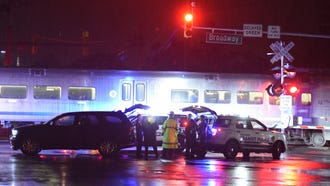 The scene where a person was fatally struck by a NJ Transit train on Irvington Street at Broadway in Westwood around 1:45 a.m. on July 15, 2018.