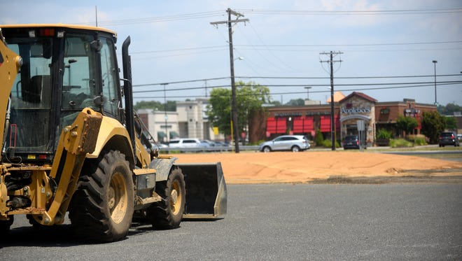 Construction crews recently completed work on pad site for the planned Olive Garden in Vineland.