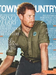 Prince Harry covers 'Town & Country.'