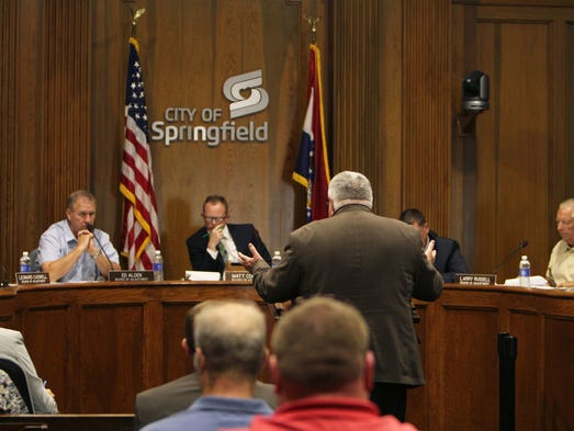 Scenes from the Springfield Board of Adjustment meeting. An appeal was made about a home in Springfield that houses alcoholics, drug users and sex offenders on June 3, 2014.