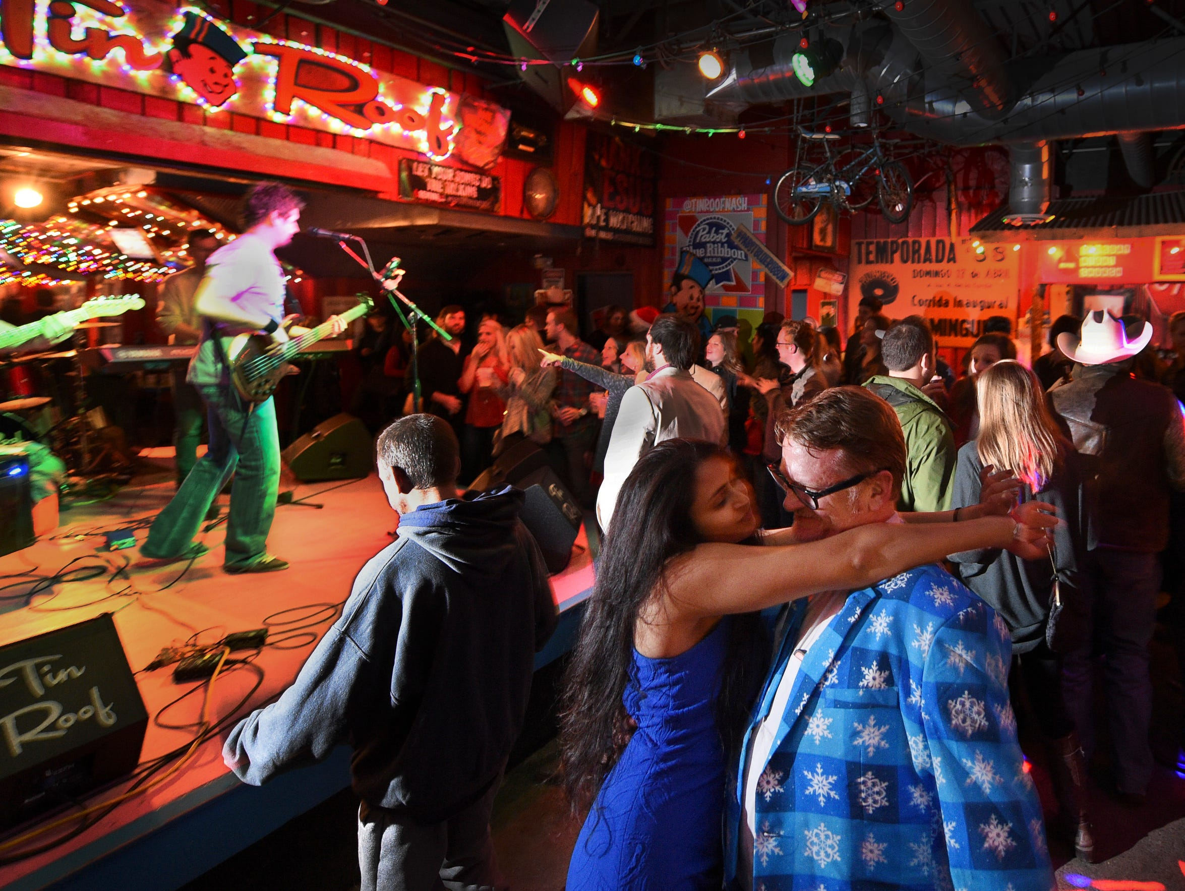 Rock 'n' roll band LoveTrucker performs at Tin Roof