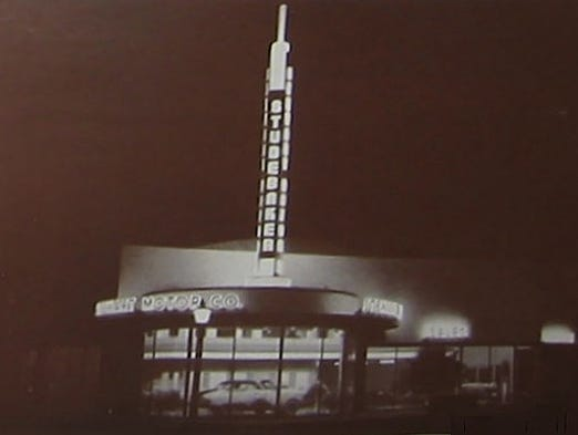 Stewart Motor Co. on Central Avenue,  circa 1947. After