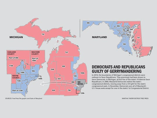 In 2010, the boundaries of Michigan's congressional
