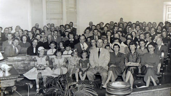 The First United Methodist Church of Paducah's congregation had grown to capacity in its 1910 building by the 1950s, as seen in this 1953 archive photo. The church launched a $100,000 fundraising drive in 1953 to build a new church. Now, the FUMC congregation has launched another fundraising drive to restore its historic 1955 building.