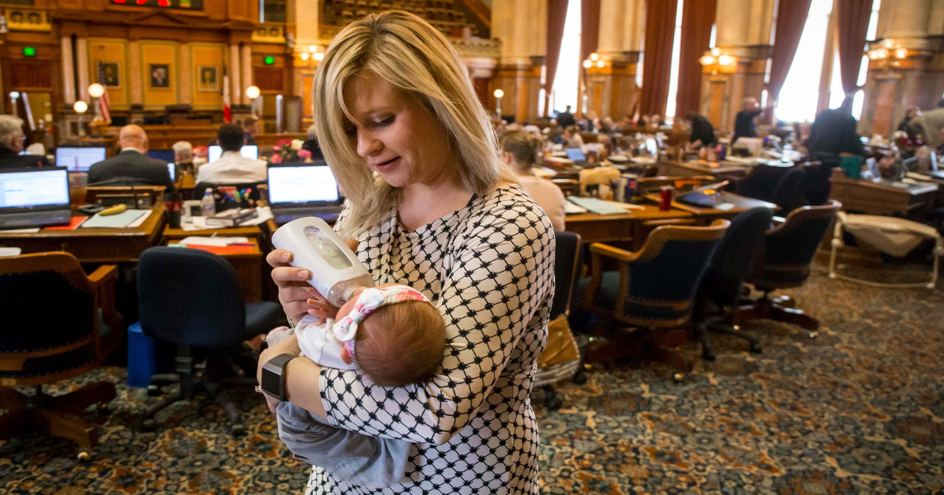Iowa lawmaker is bringing her baby to the House