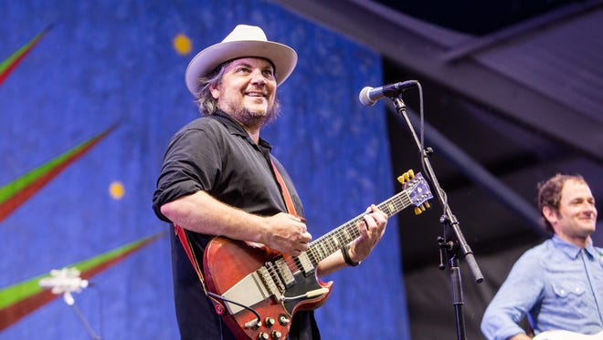 Jeff Tweedy of Wilco performs at the New Orleans Jazz and Heritage Festival in New Orleans on April 24, 2015.