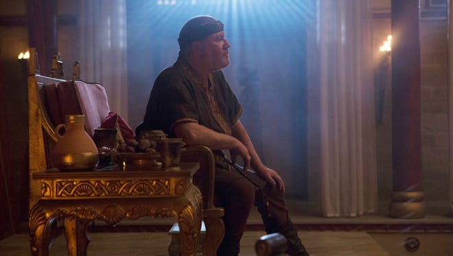 """Ray Winstone stars as King Saul in the ABC television series """"Of Kings and Prophets."""""""