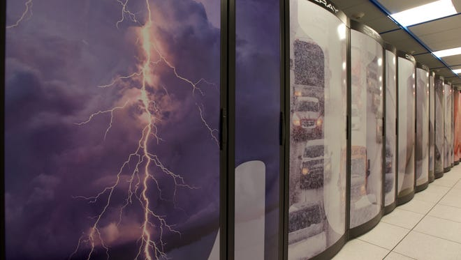 One of the world's most powerful supercomputers is now being used to forecast weather. Located in Reston, Va. The computer can process quadrillions of calculations per second that all feed into the nation's weather forecasts and predictions.