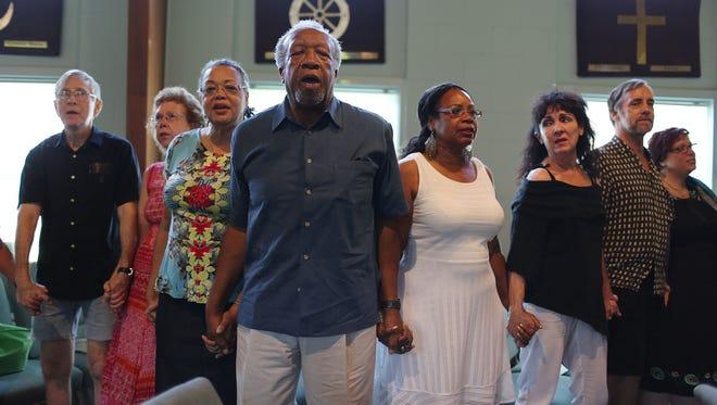 Prayer in North Charleston, S.C., on June 20, 2015.