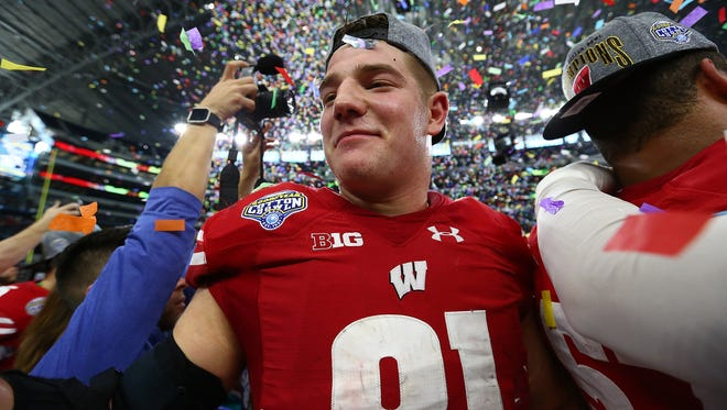 Tight end Troy Fumagalli led Wisconsin with 47 catches last season.