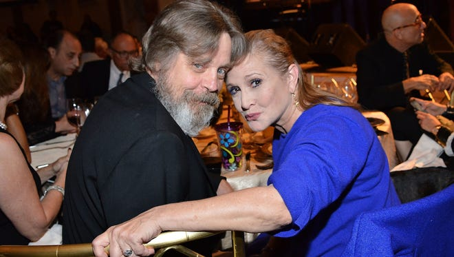 Mark Hamill and 'Star Wars' co-star Carrie Fisher.