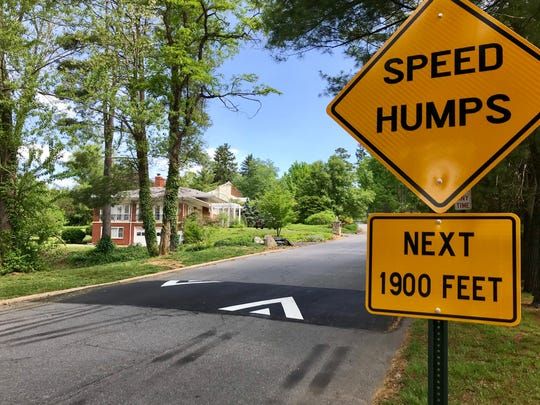 The city of Asheville recently installed seven speed humps on Wembley Road in North Asheville. A reader wonders why they put in so many.