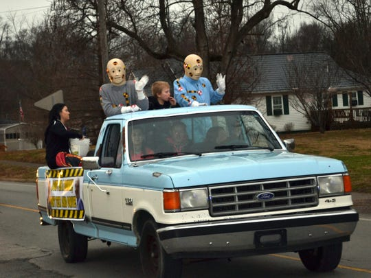 The Uniontown Police Department unveiled a new Don't Text and Drive float this year featuring two crash test dummies.