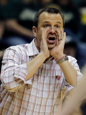 Louisville head coach Jeff Walz during the second half of a women's NCAA tournament second round basketball game Monday, March 23, 2015, in Tampa, Fla. Louisville won the game 60-52.