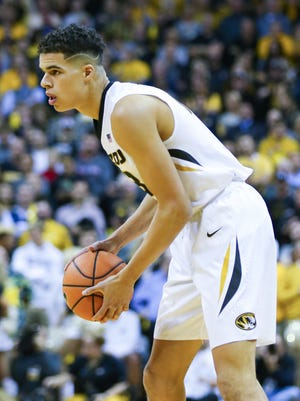 Nov 10, 2017; Columbia, MO, USA; Missouri Tigers forward Michael Porter Jr. (13) looks to pass against the Iowa State Cyclones in the first half at Mizzou Arena. Mandatory Credit: Jay Biggerstaff-USA TODAY Sports