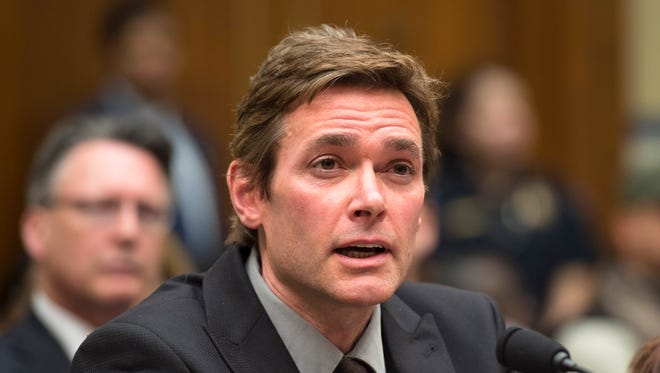 Virginia Tech Professor Marc Edwards testifies on Capitol Hill in Washington, Feb. 3, 2016, before the House Oversight and Government Reform Committee hearing to examine the ongoing situation in Flint.